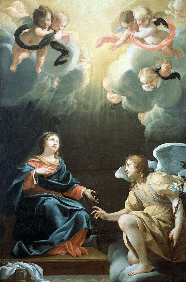 受胎告知   Simon Vouet