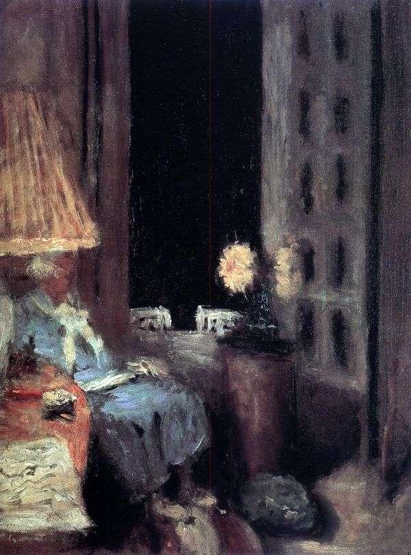 女性を読む 夕方   エドゥアールヴィユール