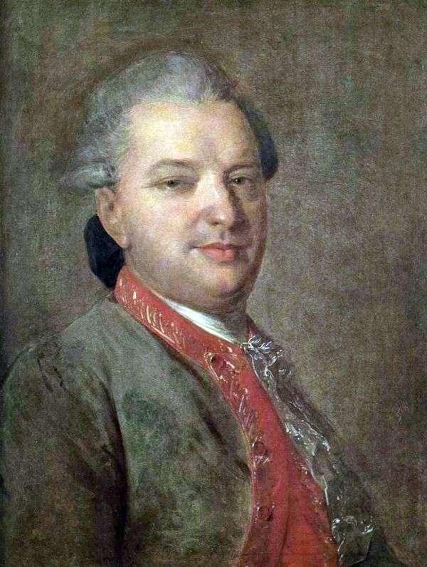 詩人Vasily Ivanovich Maikov   Fedor Rokotovの肖像画