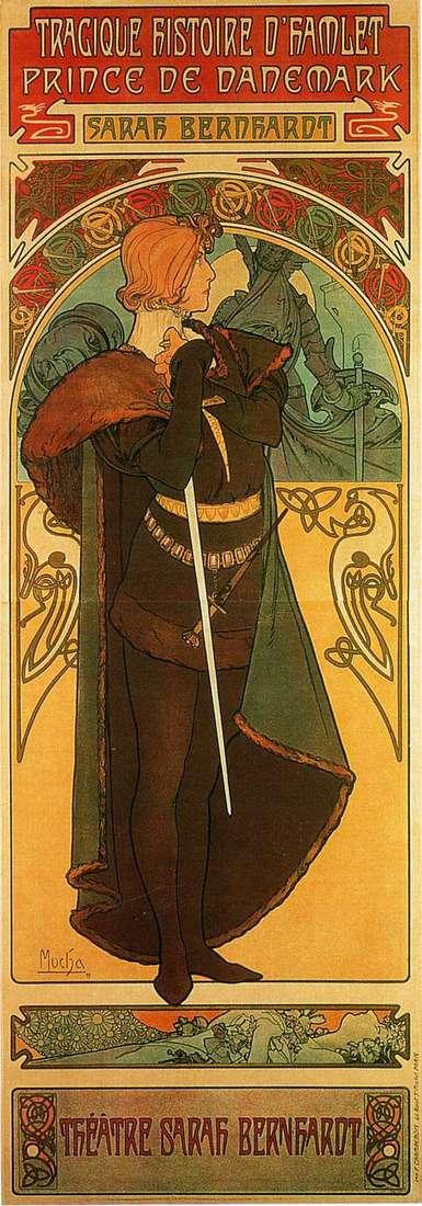 Hamlet、デンマーク王子   Alphonse Mucha