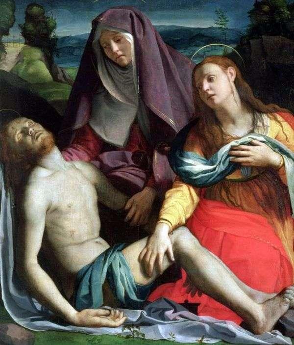 神の母とメアリーマグダレン(ピエタ)と死んだキリスト   Agnolo Bronzino
