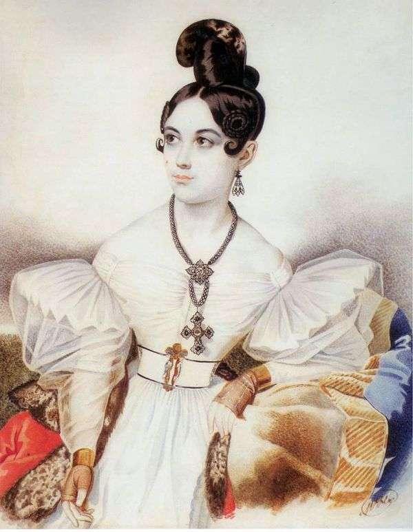 アンナMikhailovna Vielgorskaya   カールGampelnの肖像