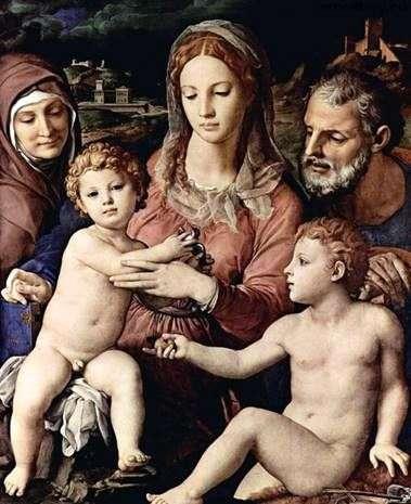 聖アンと洗礼者ヨハネの聖家族   Agnolo Bronzino