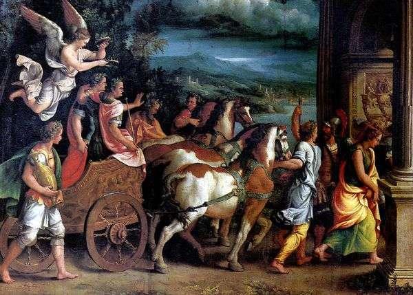 タイタスとベスパシアンの勝利   Giulio Romano
