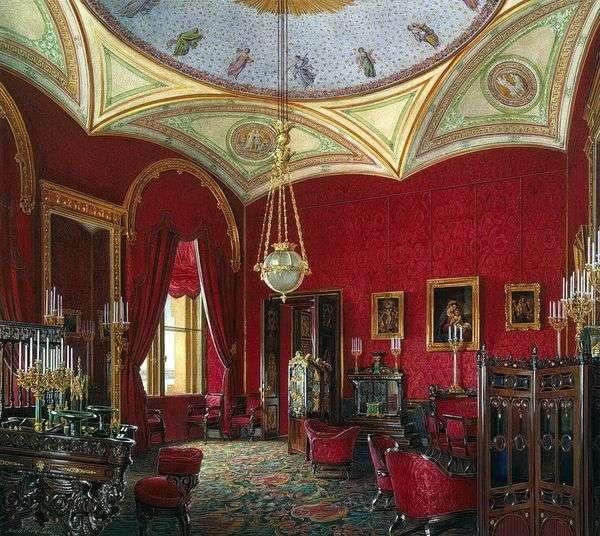 冬の宮殿の部屋の種類。皇后アレクサンドラ・フェオドロヴナの内閣   エドワード・ハウ